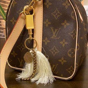 Anthropologie bag charm/key chain